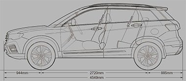 HAVAL H6 dimensions