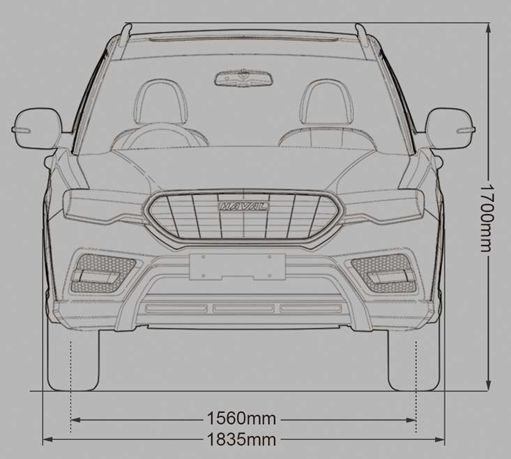 HAVAL H6 Front Dimensions